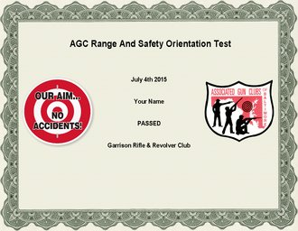 agc range safety and orientation certificate